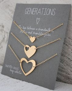 Generations bracelet set - Gift for Grandmother - Personalized Jewelry - Grandmother mother daughter - Mother gift - Grandma - Gift for Her #JewelryGifts