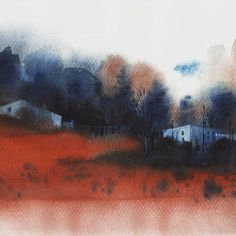 Watercolor Landscape, Watercolor Paintings, Watercolors, Chinese Painting, Abstract, Drawings, Instagram Posts, Nature, Artist
