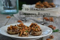10 Gluten-Free & Dairy-Free Superbowl Recipes for The Big Game from The Healthy Apple Wheat Free Recipes, Gf Recipes, Healthy Eating Recipes, Gluten Free Recipes, Healthy Food, Gluten Free Baking, Vegan Gluten Free, Dairy Free, Healthy Superbowl Snacks