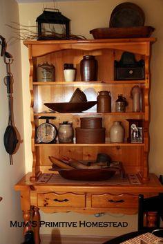 Primitive Kitchen Hutch