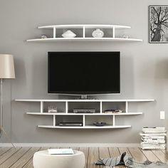Tv Unit Decor, Tv Wall Decor, Wall Mounted Tv Unit, Mounting Tv On Wall, Wall Mount Tv Shelf, Wall Tv Stand, Tv Wanddekor, Modern Tv Wall Units, Modern Wall