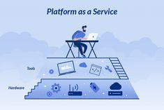 The advantages and disadvantages of PaaS (Platform as a Service) Platform As A Service, Cloud Computing, Clouds, News, Illustration, Illustrations, Cloud