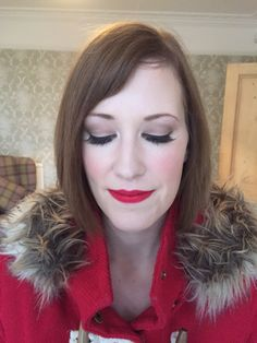 Vintage make-up for wedding guest