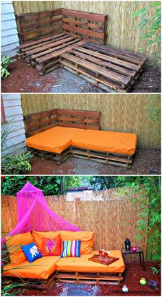 Outdoor Pallet Sofa – Pallet Sectional Sofa - Pallet Sofa - 21 DIY Pallet Sofa Plans - Page 7 of 10 - DIY & Crafts