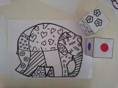 dobbelspel Elmer Kindergarten Activities, Book Activities, Preschool, Aqua Rooms, Elmer The Elephants, New Project Ideas, Elephant Print, Little Monsters, Children's Literature