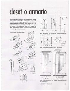 closet o armario El closet actual localizado en las recamaras debe ser pla- neado para el guardado de la ropa y objetos d...
