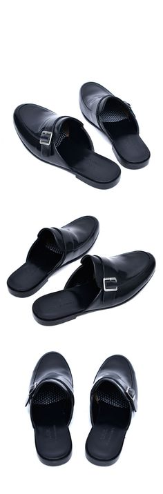 Details about  /Womens clogs shoes black leather shoes slippers ladies mules half shoes mules
