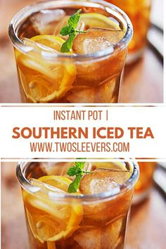 Once you make iced tea in your pressure cooker or instant pot, you'll never make it the old-fashioned way again. Super easy, hands-off method for the smoothest but strong Instant Pot iced tea you'll enjoy! Sweet Tea Recipes, Iced Tea Recipes, Drink Recipes, Fresco, Summer Mixed Drinks, Making Iced Tea, Pressure Cooking Recipes, Instant Pot Pressure Cooker, Paleo Breakfast