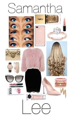 """Samantha Lee"" by pmstefancik on Polyvore featuring WigYouUp, Reverie, River Island, Charlotte Simone, Chanel, Jessica Carlyle, Adolfo Courrier, Anna-Karin Karlsson, Kylie Cosmetics and MAC Cosmetics"