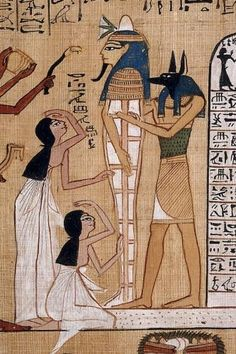 Mummy of Hunefer, Book of the Dead. Scan by The British Museum (Wikimedia)