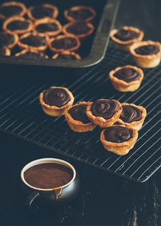 Mini Chocolate and Salted Caramel Tarts | A Table For Two