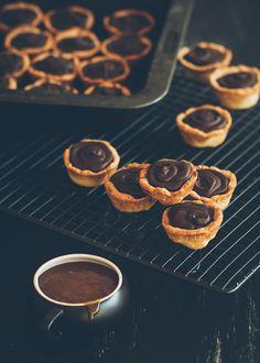 mini chocolate and salted caramel tarts