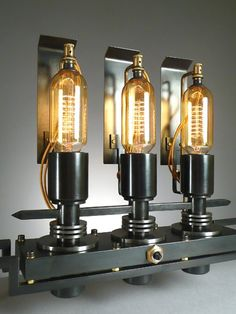 Interior design | decoration | home decor | Steam punk 3 lights