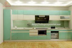 Tủ bếp chữ i nhà chị Tân XV056