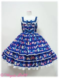 Angelic Pretty Toy Drops JSK in blue « Lace Market: Lolita Fashion Sales and Auctions