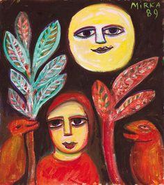 Mirka Mora Paintings for Sale Modern Art Artists, Contemporary Artists, Australian Painters, Australian Artists, Value In Art, Art Brut, Recycled Art, Outsider Art, Woman Painting