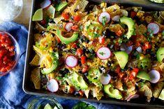 corn and black bean weeknight nachos | smittenkitchen.com