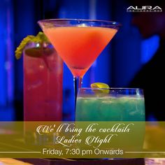 Are you ready for the weekend? We're going to be stirring up some exciting cocktails to liven up your Friday evening!