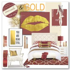 Gold and Burgundy/Maroon