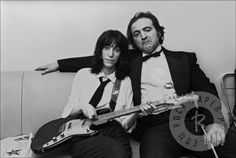 Patti Smith and John Belushi by Allan Tannenbaum