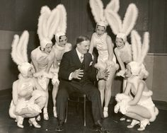 """Ok bunnies, gather around - you're going to be meeting Hugh Heffner in 30 mins and I really want all of you to get the jobs at his new club he's opening on Sunset Blvd!"
