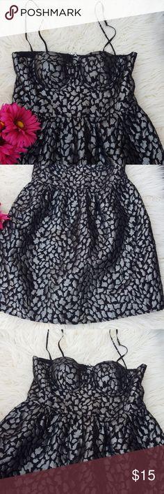 "Moda international black and grey dress. 24"" long/waist 14""/bust 15"". Moda International Dresses Mini"