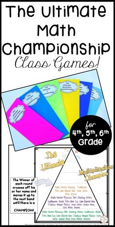 The Ultimate Math Championship is a FUN and easy way to help Teaching 5th Grade, 5th Grade Classroom, Third Grade Math, Fifth Grade, Classroom Ideas, Teaching Resources, Teaching Ideas, Class Games, Math Test