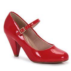 Sapato Boneca Salto Conforto Feminino Beira Rio - Vermelho