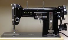 MI Vintage Sewing Machines: Necchi BU Nova (1952). Same model as mine. I had no idea that this was such a collector's piece. It's just what I've used all my life. Yay. :)