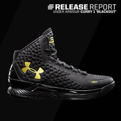 Prepare for a worldwide 'Blackout'. This Under Armour Charged Foam Curry 1 dropped today. Tenis Basketball, Curry Basketball Shoes, Casual Sneakers, Casual Shoes, Sock Shoes, Men's Shoes, Stephen Curry Shoes, Under Armour Shoes, Jordan