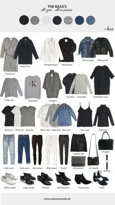 Awesome Autumn Capsule Wardrobe for Basic minimal pieces that work for women of all sizes. # Awesome Autumn Capsule Wardrobe for Basic minimal pieces that work for women of all sizes. Mode Outfits, Casual Outfits, Fashion Outfits, Womens Fashion, Fashion Tips, Fashion Basics, Fashion Ideas, Basic Outfits, Fashion Trends