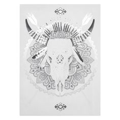 Foiled Tribal Skull Canvas