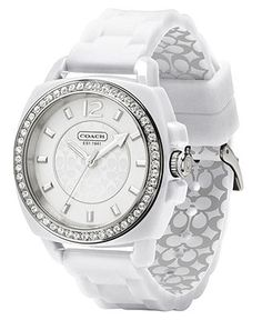 COACH BOYFRIEND SILICON RUBBER STRAP WATCH - Coach Jewelry - Handbags & Accessories - Macy's $178