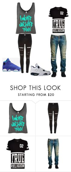 """""""Me and Bae"""" by brianna23-1 on Polyvore featuring interior, interiors, interior design, home, home decor, interior decorating, True Religion, Cult of Individuality and NIKE"""