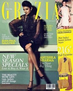 The graceful Anushka on the Grazia coverpage
