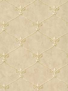 Wallpaper Small Gold Leaf Fleur de lis Lattice Trellis on Beige Background. This is our current dining room paper. Beige Background, Background Vintage, Background Patterns, Textures Patterns, Fabric Patterns, Print Patterns, Backgrounds Wallpapers, Cute Wallpapers, Fabric Wallpaper