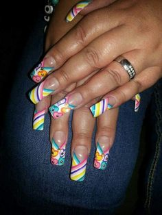:) Long Nail Designs, Pretty Nail Designs, Colorful Nail Designs, Stiletto Nails, Coffin Nails, Gorgeous Nails, Pretty Nails, Duck Feet Nails, Take The Cake
