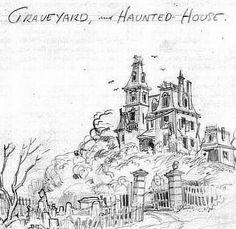 Concept Art | Phantom Manor | Haunted Mansion | Frontierland | Disneyland Paris