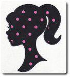 Applique Silhouette Girl Embroidery Design