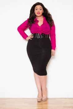 plus size blogger black and white office - Google Search