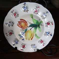Blue Ridge Southern  Pottery Floral Egg Plate Platter....
