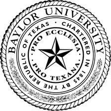 "3/"" x 3/"" BU Debossed Auto Emblem Baylor University"