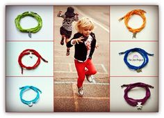 Silk wrap bracelets for the little angels in our lives <3