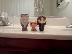 Dumbledore, crookshanks, and Hermione POP figures. Would totally suggest for any Potter head