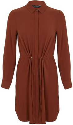 Womens russet shirt dress from Miss Selfridge - £35.10 at ClothingByColour.com