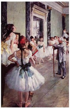 French artists Edgar Degas finished painting this wonderful piece called The Dance Class in 1876, and it is one of his many works using the ballet as a subject.