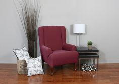 Plush, velvety surface with deeply embossed parallel lines approx cm apart home decor, form fit slip cover design for your home, chic interior design Wing Chair, Slipcovers For Chairs, Wingback Chair, Your Space, Cover Design, Love Seat, Accent Chairs, Upholstery, Plush
