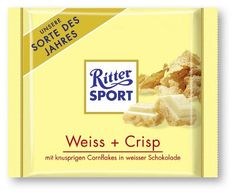 Ritter SPORT weiss- Crispy White Chocolate with Cornflakes