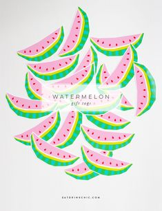 NEW Printable Watermelon Gift Tags in the shop...