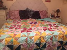 Special order double pinwheel quilt- King size